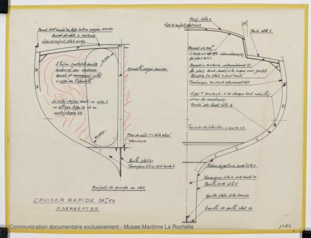 PLAN DE CONSTRUCTION - Croiser rapide 14,60 m (1973)