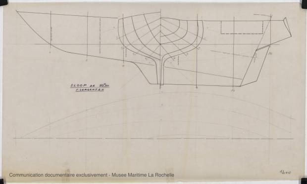 PLAN DE COQUE - Locrido, Comores (amateurs) Sloop 10,50 m (1973)