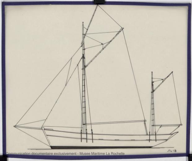 PLAN DE VOILURE/GREEMENT - Gwalarn Thonier 12,50 m (1974)