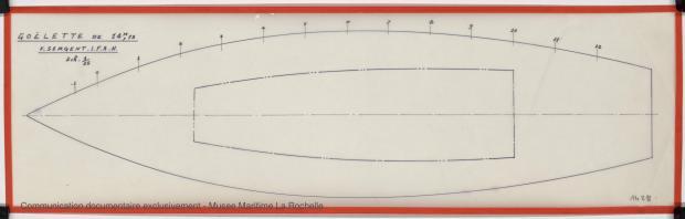 PLAN DE COQUE - Goelette 14,75 m (1974)