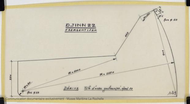 PLAN DE DERIVE/QUILLE - Djinn 22 (1975)