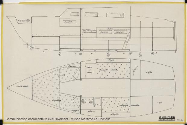 PLAN D'AMENAGEMENT  - Djinn 22 (1975)