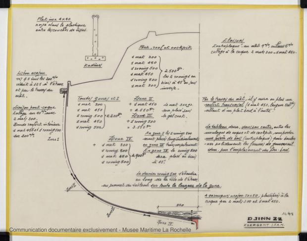 PLAN DE CONSTRUCTION - Djinn 22 (1975)
