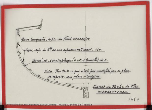 PLAN DE CONSTRUCTION - Canot de peche 7,20 m (1975)
