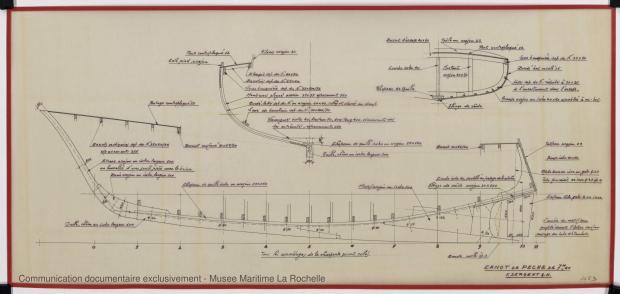 PLAN DE CONSTRUCTION - Canot de peche 7,20 m (1975)