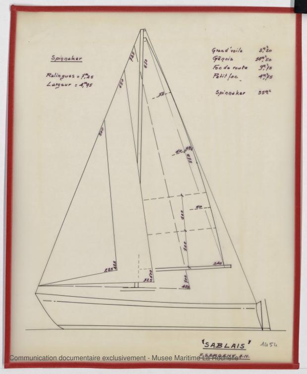 PLAN DE VOILURE/GREEMENT - Sablais, 6,40 m (1975)