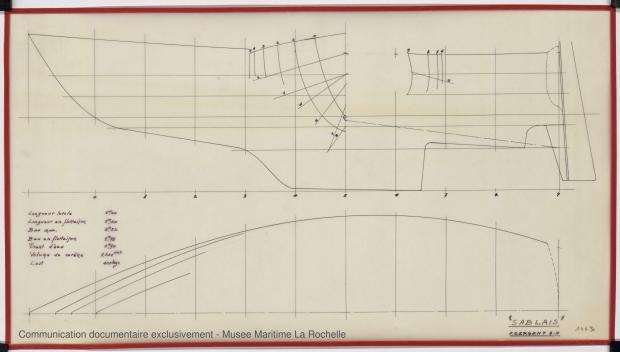 PLAN DE COQUE - Sablais, 6,40 m (1975)