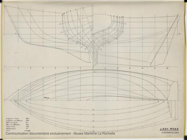 PLAN DE COQUE - Lady Rose, 9 m (1975)