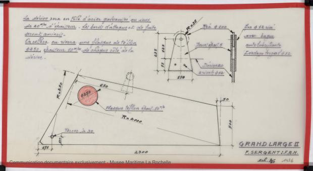 PLAN DE DERIVE/QUILLE - Grand Large 2    (1975)