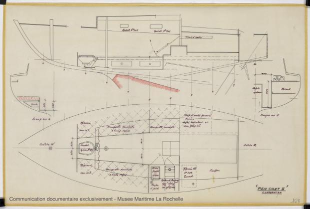 PLAN D'AMENAGEMENT  - Pen Coat II   (1975)