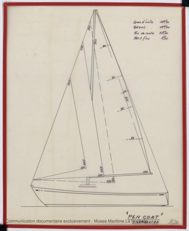 PLAN DE VOILURE/GREEMENT - Pen Coat    (1975)