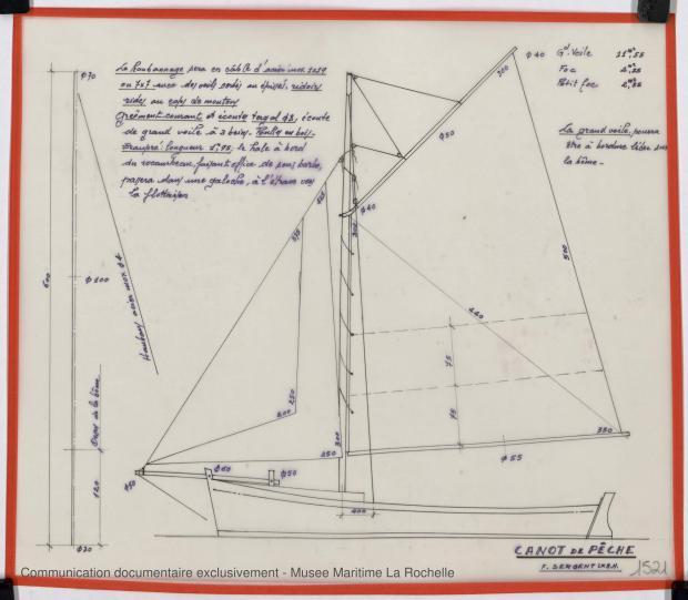 PLAN DE VOILURE/GREEMENT - Canot de peche 6,25 m (1975)