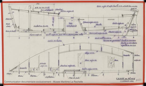 PLAN DE CONSTRUCTION - Canot de peche 6,25 m 1975 (1975)
