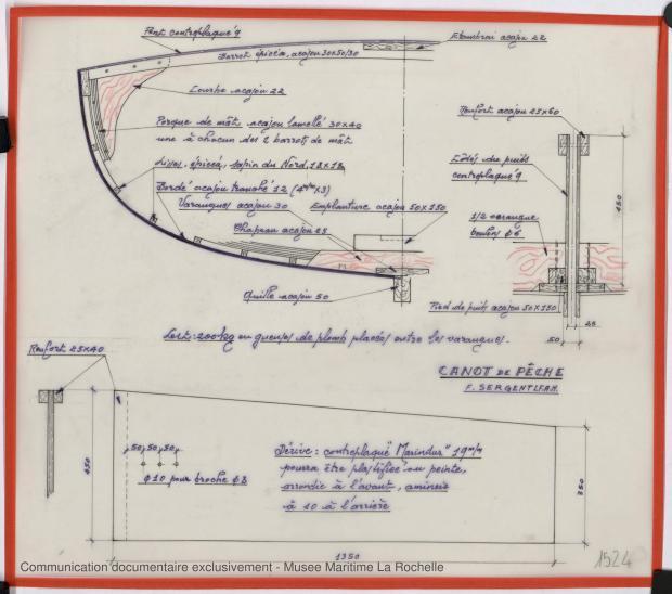 PLAN DE CONSTRUCTION - Canot de peche 6,25 m 1975 (1975)