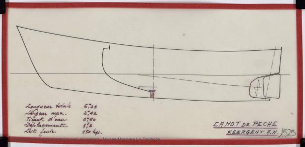 PLAN DE COQUE - Canot de peche 6,25 m (1975)