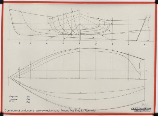 PLAN DE COQUE - Canot de peche 6,25 m 1975 (1975)
