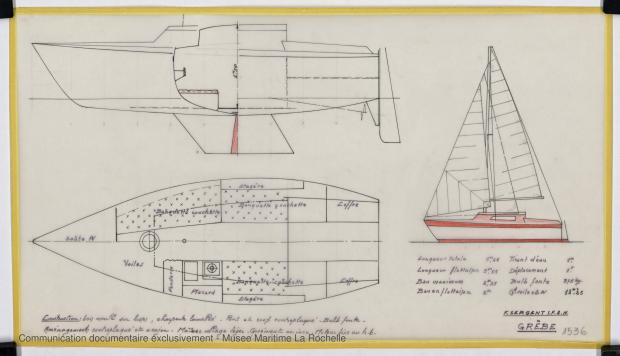 PLAN GENERAL - Grebe   6,25 m DAYBOAT (1975)