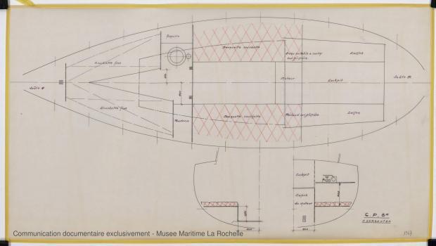 PLAN D'AMENAGEMENT  - Otarie  8,00 m (1976)