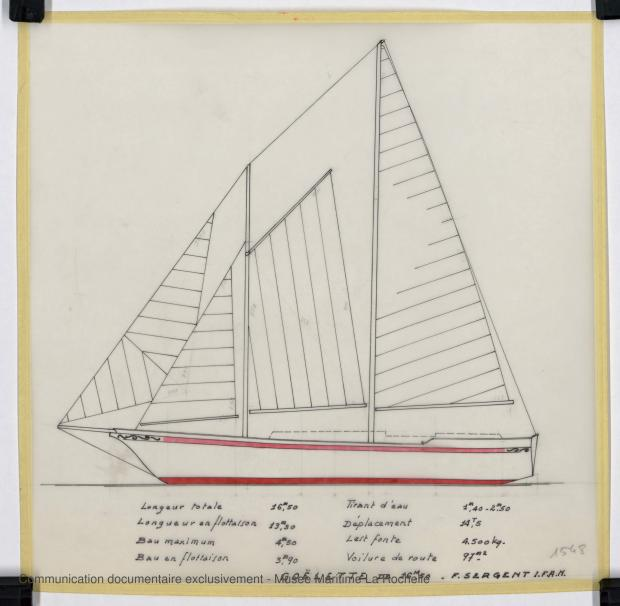 PLAN GENERAL - Laska  Goelette  16,50 m (1976)