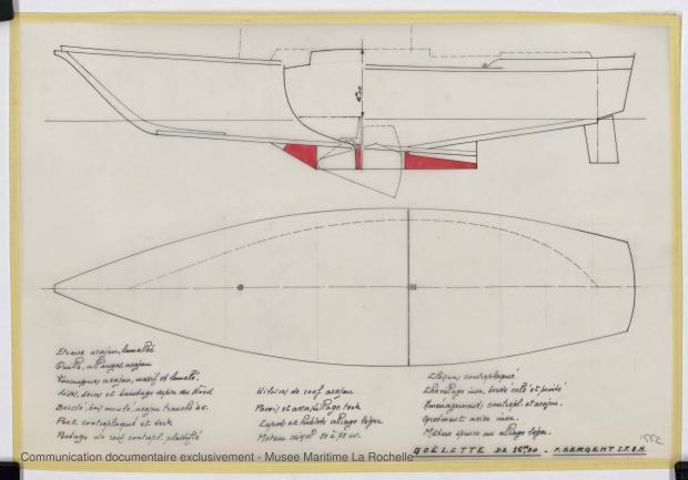 PLAN DE COQUE - Laska  Goelette  16,50 m (1976)