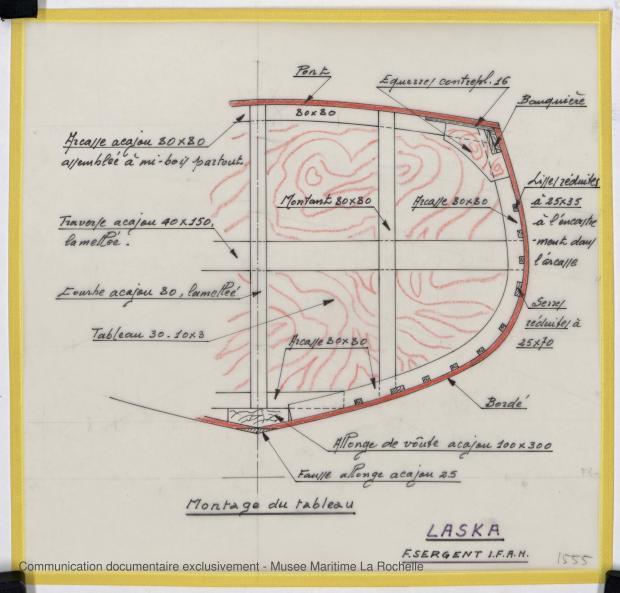 PLAN DE CONSTRUCTION - Laska  Goelette  16,50 m (1976)
