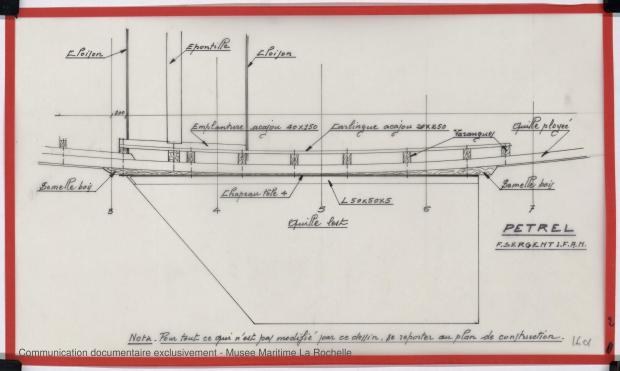 PLAN DE DERIVE/QUILLE - PETREL     (1977)