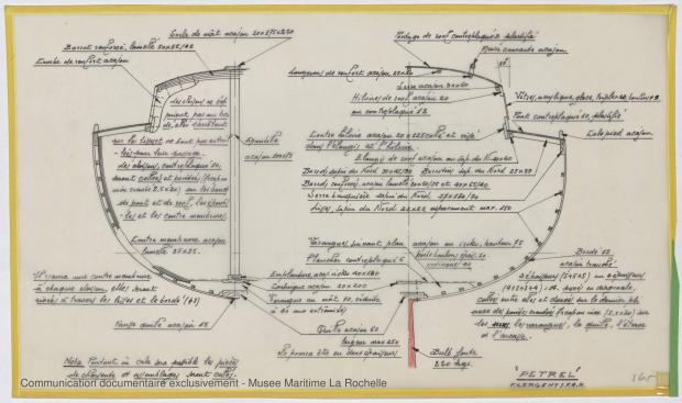 PLAN DE CONSTRUCTION - PETREL     (1977)