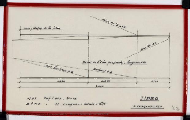 PLAN DE VOILURE/GREEMENT - JIDZO (1977)