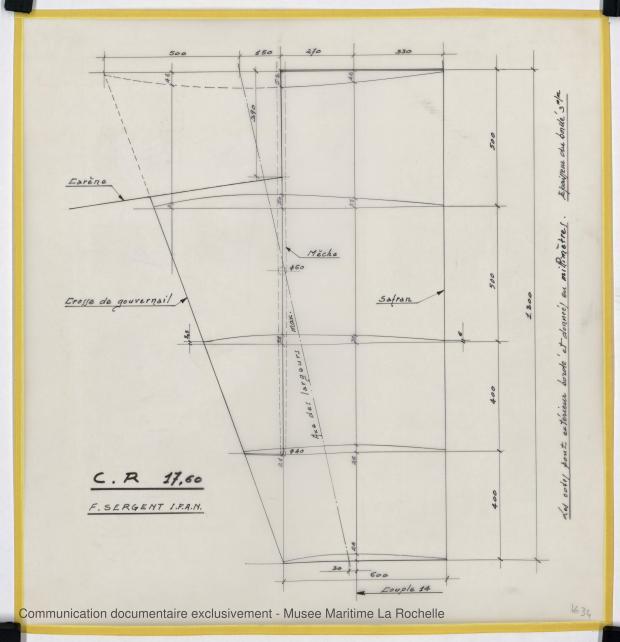 PLAN D'APPAREIL A GOUVERNER - CRUISER RAPIDE   17,60 M (1977)