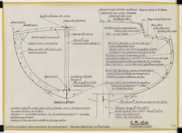 PLAN DE CONSTRUCTION - CRUISER RAPIDE   17,60 M (1977)