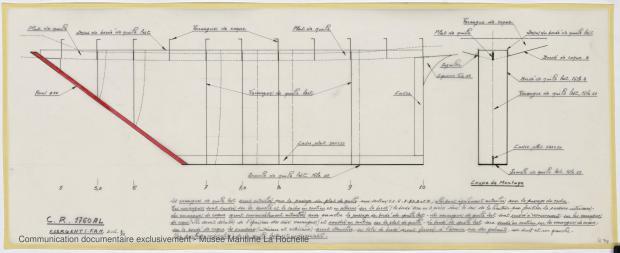PLAN DE DERIVE/QUILLE - CRUISER RAPIDE   17,60 M (1977)