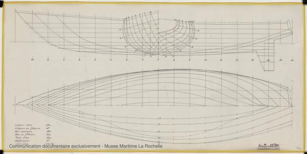 PLAN DE COQUE - CRUISER RAPIDE   17,60 M (1977)