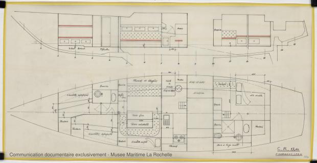 PLAN D'AMENAGEMENT  - CRUISER RAPIDE   17,60 M (1977)