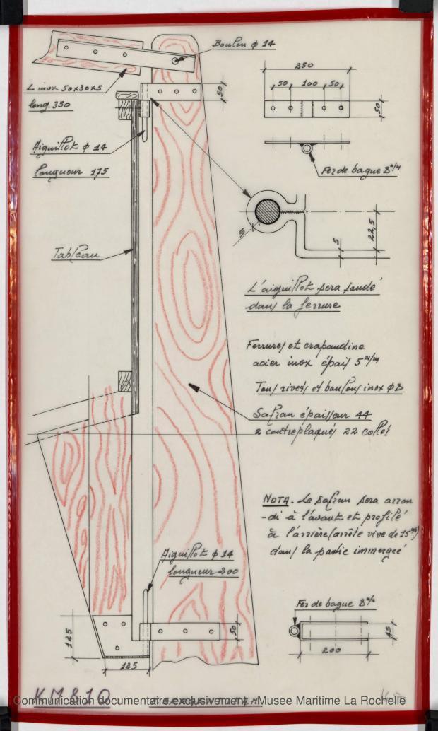 PLAN D'APPAREIL A GOUVERNER - K.M. 810      (1977)