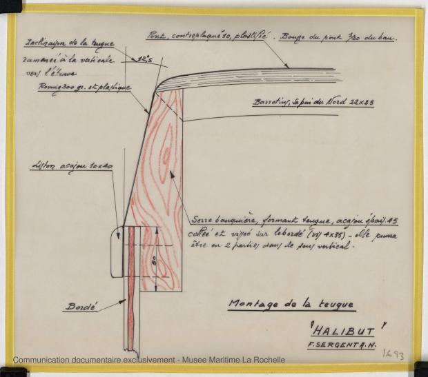 PLAN DE CONSTRUCTION - HALIBUT (1977)