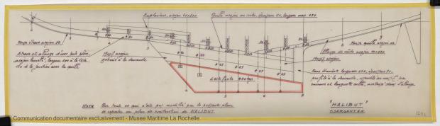 PLAN DE DERIVE/QUILLE - HALIBUT (1977)
