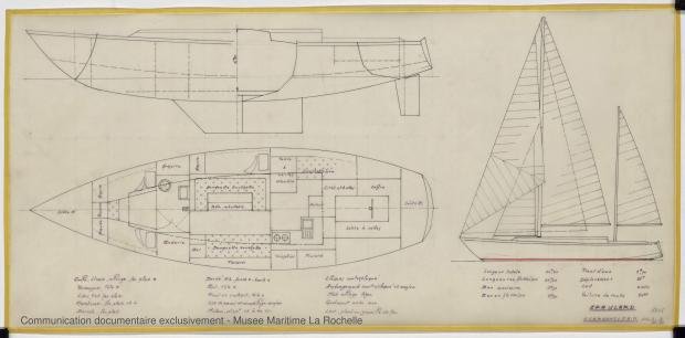 PLAN D'AMENAGEMENT  - Epaulard  12,50 m (1978)