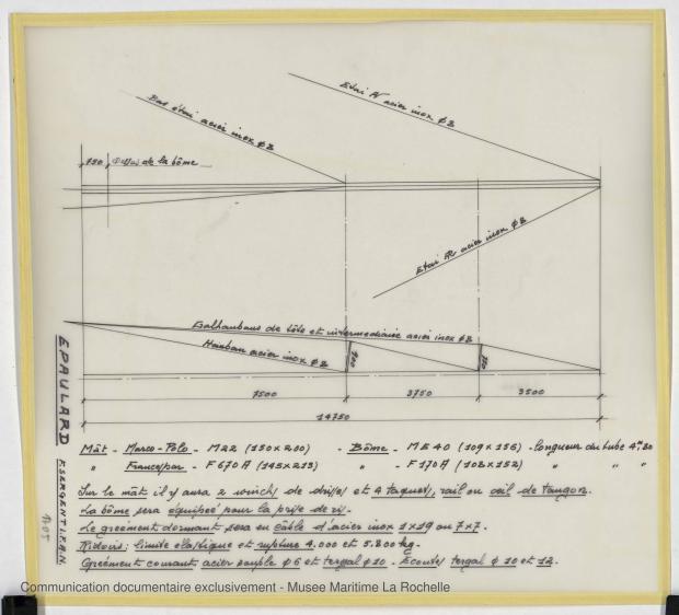 PLAN DE VOILURE/GREEMENT - Epaulard  12,50 m (1978)