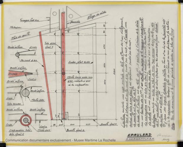 PLAN D'APPAREIL A GOUVERNER - Epaulard  12,50 m (1978)