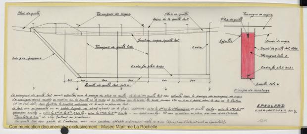 PLAN DE DERIVE/QUILLE - Epaulard  12,50 m (1978)