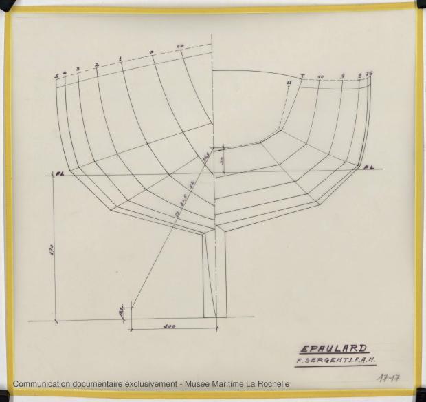 PLAN DE COQUE - Epaulard  12,50 m (1978)