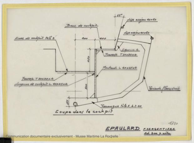 PLAN DE CONSTRUCTION - Epaulard  12,50 m (1978)
