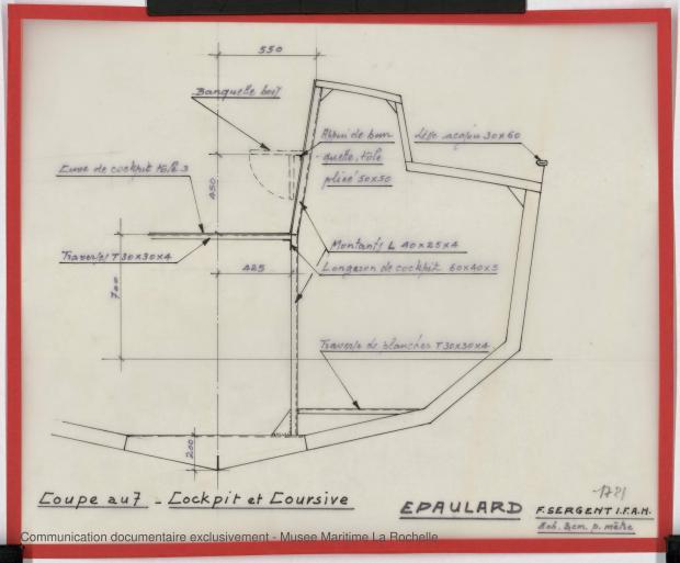 PLAN DE CONSTRUCTION - Epaulard  12,50 m (1978)