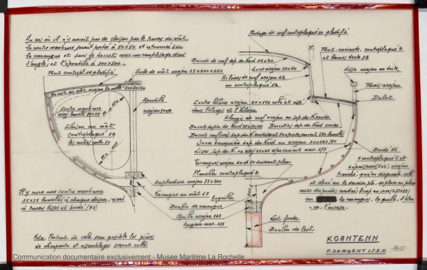 PLAN DE CONSTRUCTION - Koantenn, Chaloupe 8.25 m (1978)