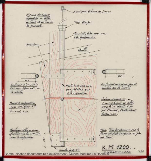 PLAN D'APPAREIL A GOUVERNER - K.M. 1200 (1978)