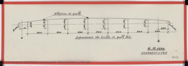 PLAN DE DERIVE/QUILLE - K.M. 1200 (1978)