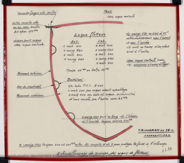 PLAN DE CONSTRUCTION - TRIMARAN 16 M (1979)