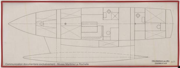 PLAN D'AMENAGEMENT  - TRIMARAN 16 M (1979)