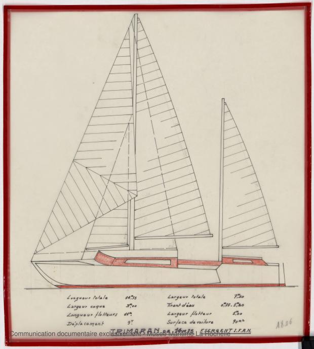 PLAN GENERAL - TRIMARAN 14,75 M (1979)