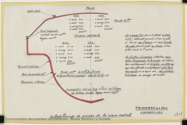 PLAN DE CONSTRUCTION - TRIMARAN 13 M (1979)